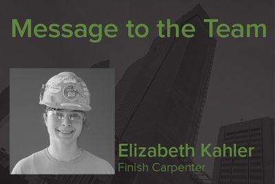 OCP Finish Carpenter Elizabeth Kahler