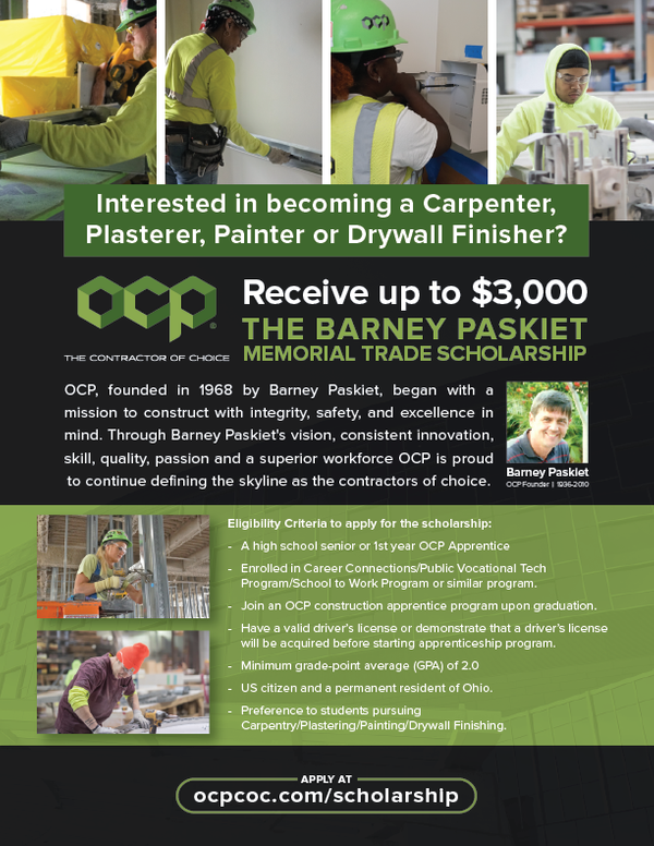 OCP Scholarship Flyer