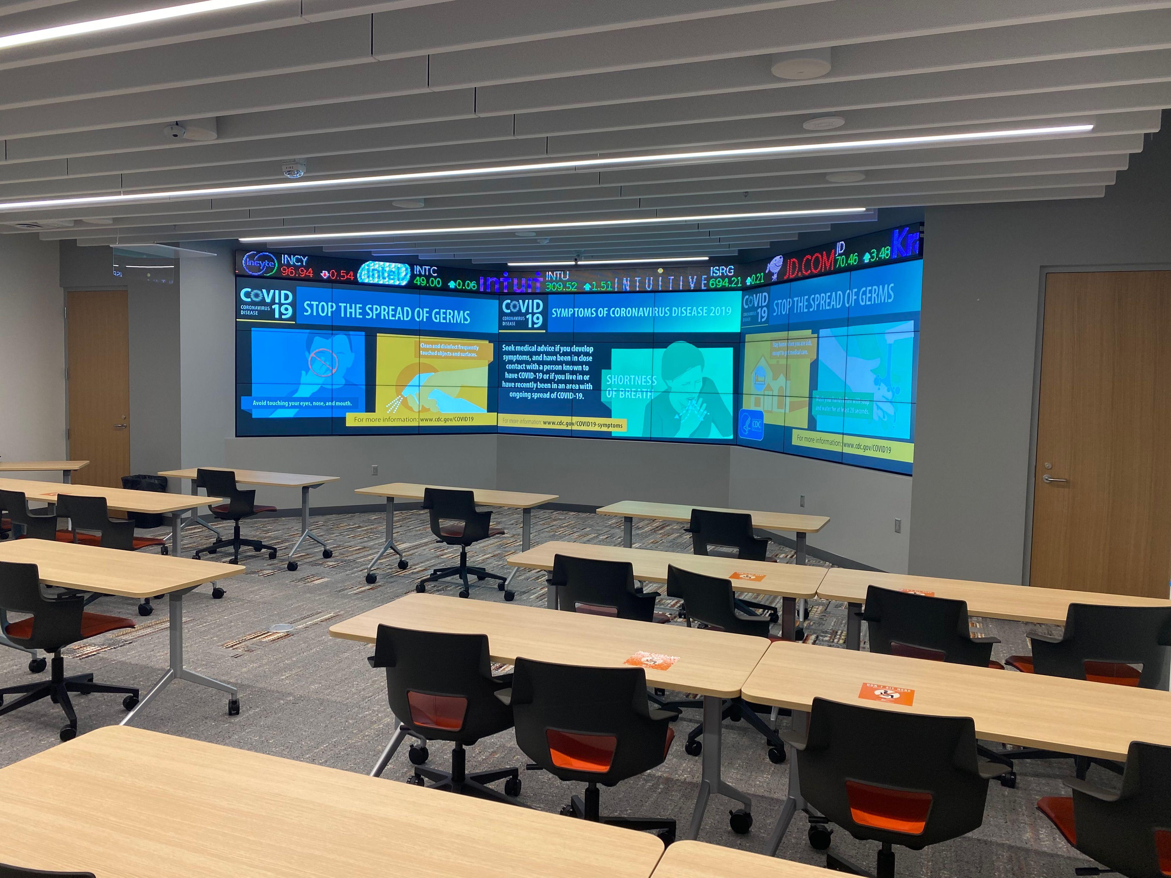 BGSU Hanna Maurer Center Business Center Drywall
