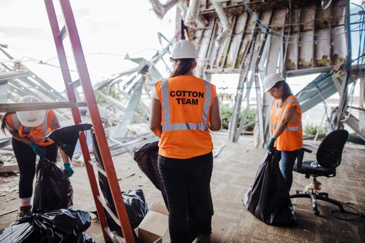 Cotton commercial disaster solution team members cleaning up damaged property in Fort Lauderdale, FL