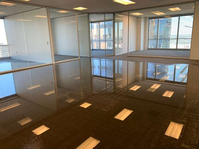 Extensive water damage at office in Austin, TX