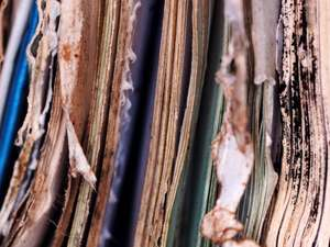 Documents affected by water damage - needs restoration