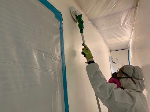 Cotton GDS commercial disaster solutions crew removing mold in Austin, TX
