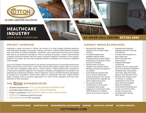 Healthcare Hurricane Damage Restoration