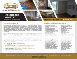Healthcare Hurricane Damage Restoration