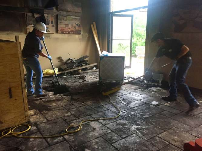 Cotton GDS  cleaning fire damage in Austin, TX