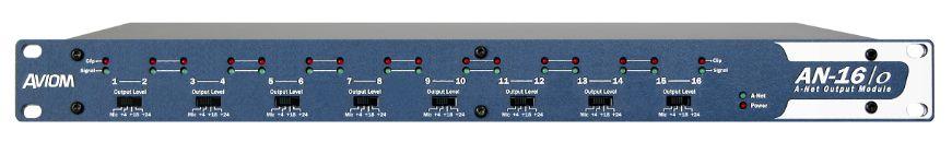 Aviom AN-16/o A-Net Output Module at Hollywood Sound Systems