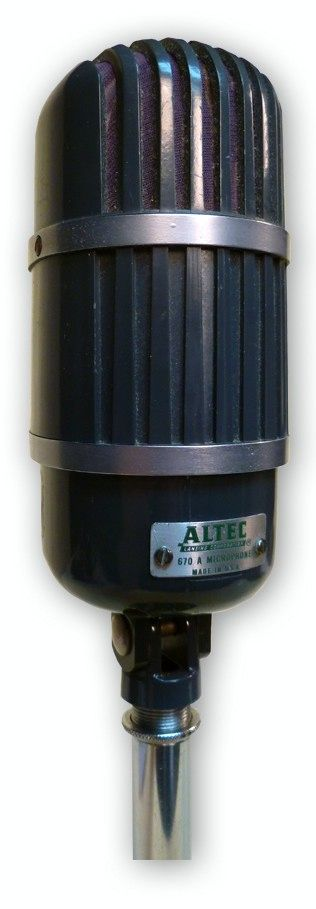 The ALTEC 670 RIBBON MICROPHONE at Hollywood Sound Systems