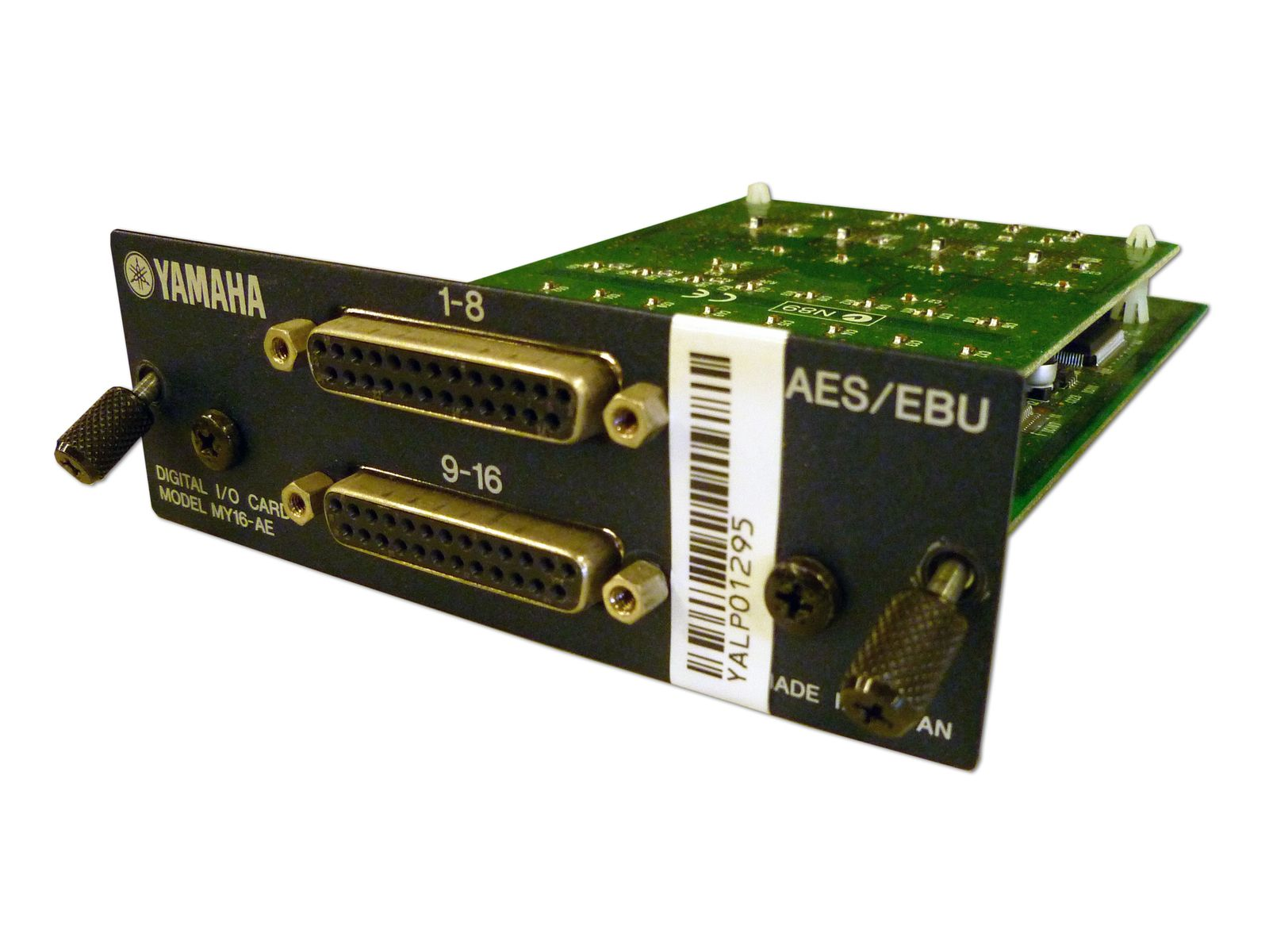The Yamaha Model MY16-AE 16-Channel AES/EBU I/O Card is available at Hollywood Sound Systems.