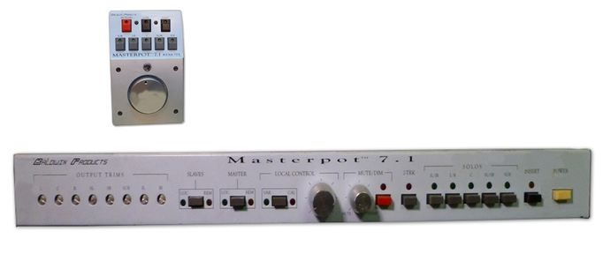 Baldwin Products Masterpot 7.1 Monitor Level Control at Hollywood Sound Systems