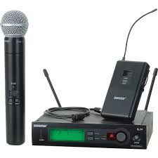 The Shure SLX Wireless Microphone Combo is available at Hollywood Sound Systems.