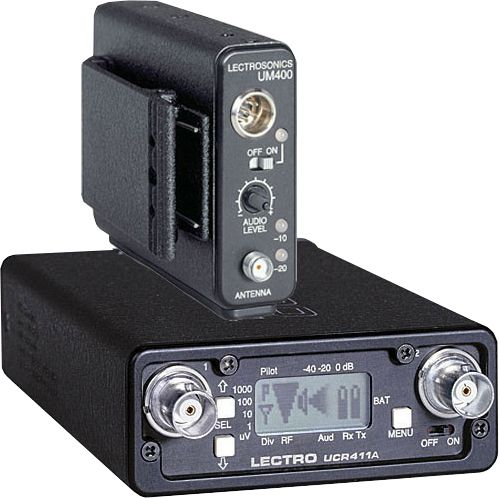 The Lectrosonics UCR411A / UM400A UHF Wireless Set is at Hollywood Sound Systems.