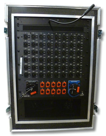 The Radial 48X10 2-Way Mass Splitter is available at Hollywood Sound Systems.