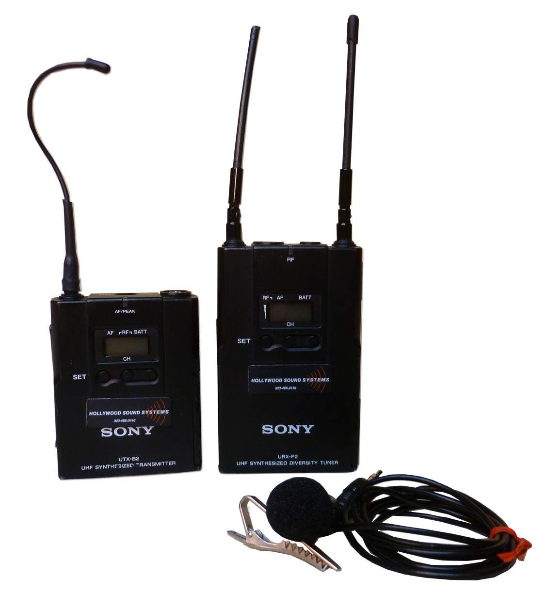 The Sony UWP-V1 Wireless Lavalier Microphone Package is available at Hollywood Sound Systems.