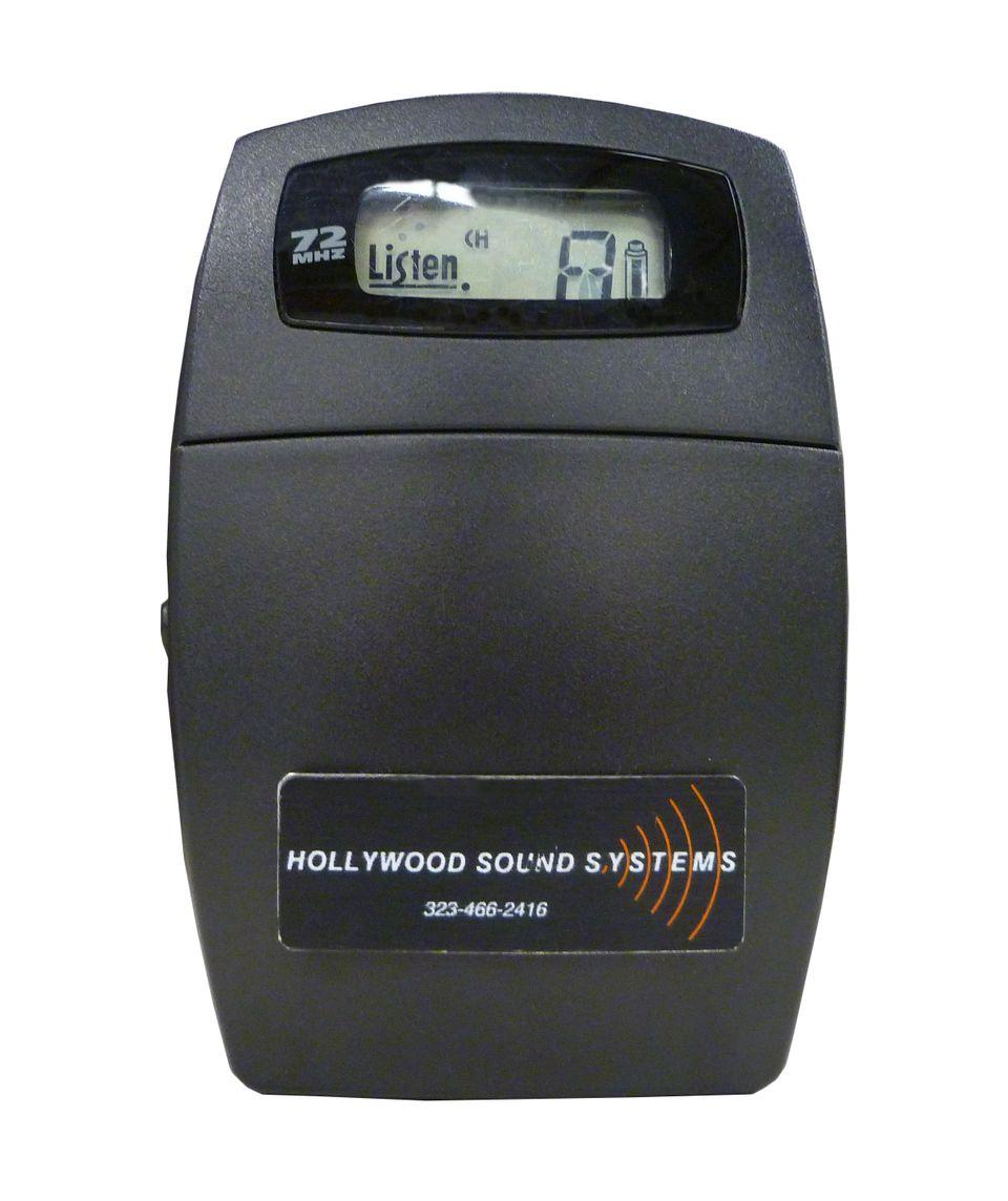Listen Technologies LR-400-72 Portable Display RF Receiver at Hollywood Sound SystemsLISTEN Technologies LR-400-072