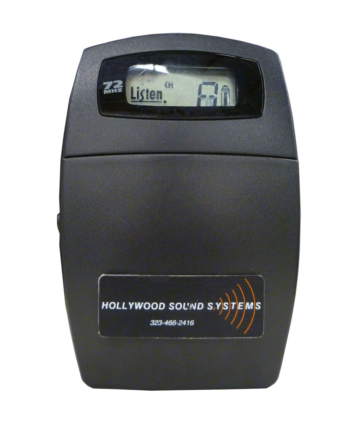 Listen Technologies LR-400-72 Portable Display RF Receiver at Hollywood Sound SystemsLISTEN Technologies LR-400-072