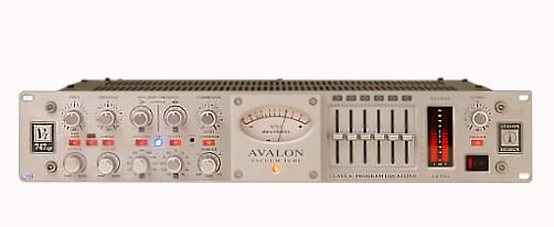 The AVALON VT747SP mic preamp is available at Hollywood Sound Systems.