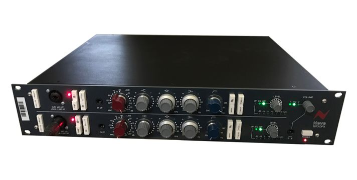 The Neve 1073 DPX Dual Mic Preamp is available at Hollywood Sound Systems.