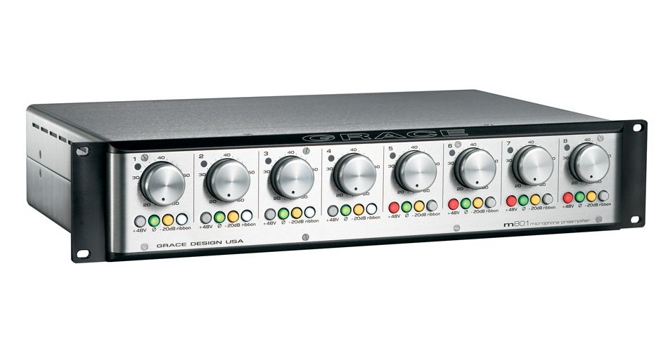 GRACE LABS Model 801 8-Channel Mic Preamplifier is available at Hollywood Sound Systems