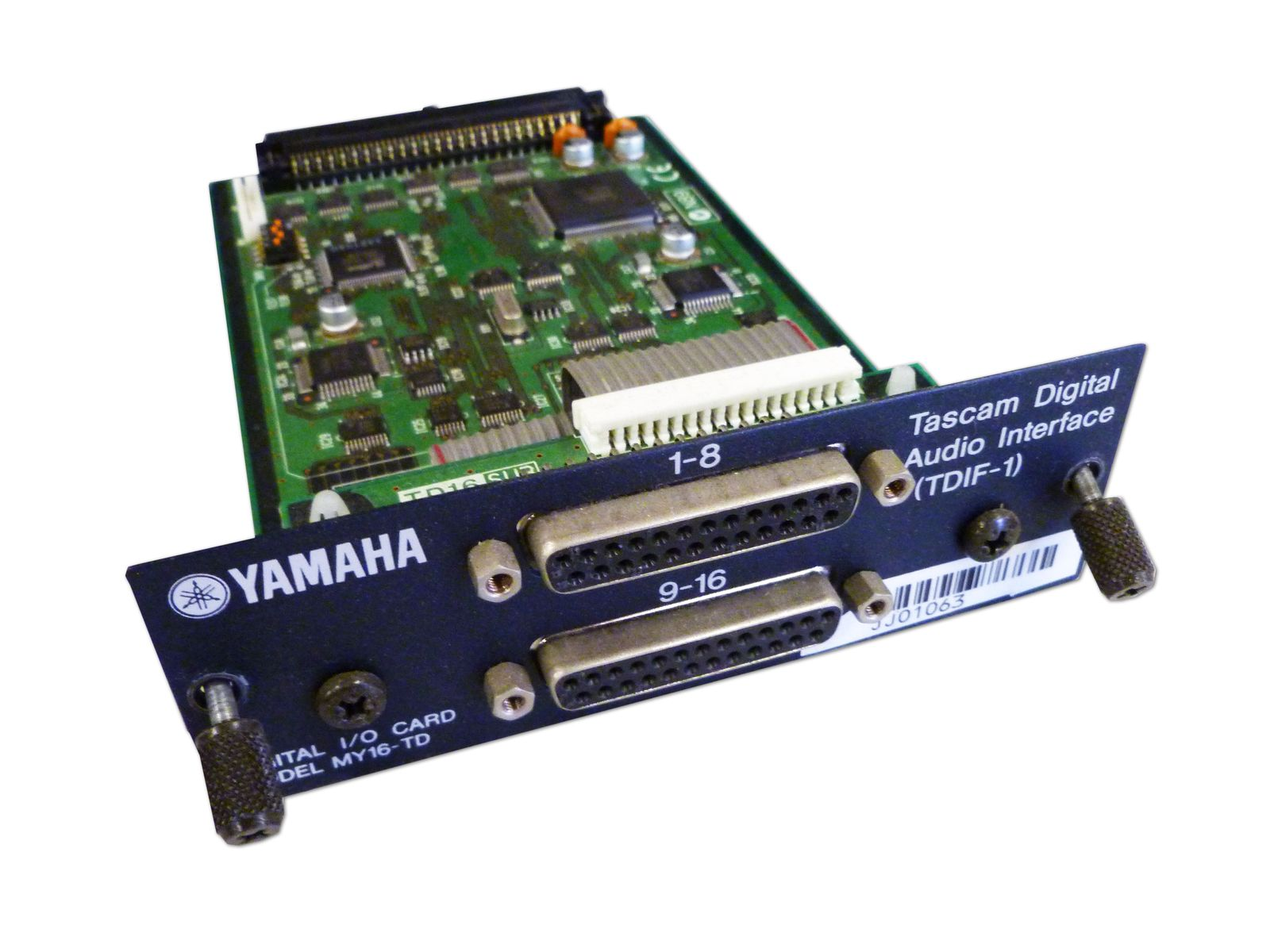 The Yamaha Model MY16-TD 16-Channel TDIF-1 Format I/O card is available at Hollywood Sound Systems.