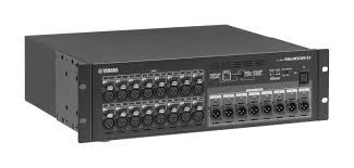The Yamaha RIO1608-D 3U I/O Rack Unit is available at Hollywood Sound Systems.