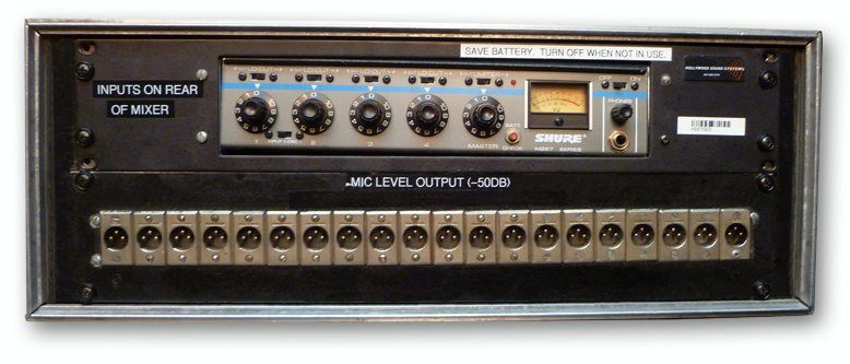 The Hollywood Sound Systems custom-designed 20-Output Press Bridge is at Hollywood Sound Systems.