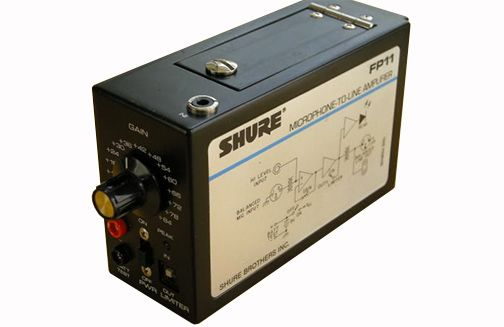 The Shure FP11 Portable In-Line Amplifier is at Hollywood Sound Systems.