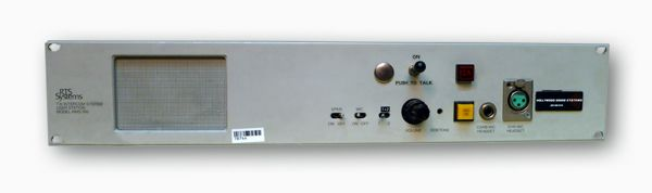 RTS RMS-300 Rack Mount Speaker User Station at Hollywood Sound Systems