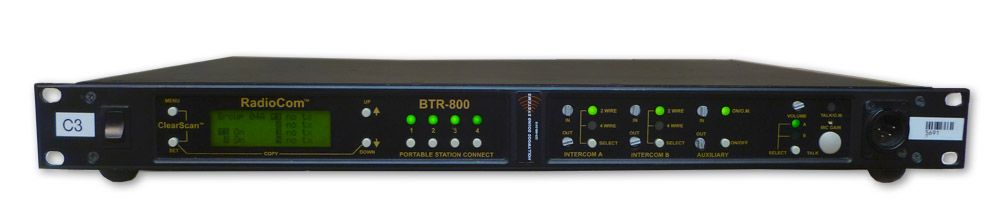 RTS Telex  BTR-800 2-Channel UHF Base Station at Hollywood Sound Systems