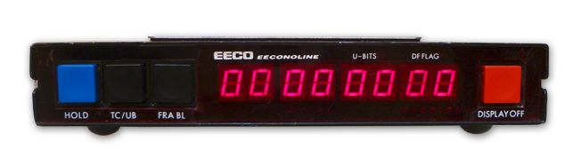 The EECO EECONOLINE TCR-66 Time Code Reader is at Hollywood Sound Systems.