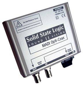 SSL MADI Opti-Coax converter box is available at Hollywood Sound Systems