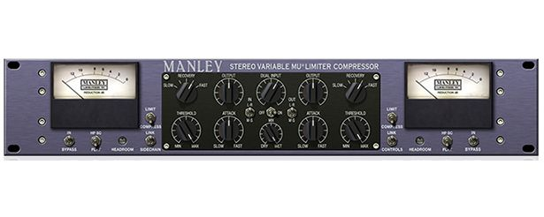 The Manley Variable MU Limiter Compressor is available at Hollywood Sound Systems.