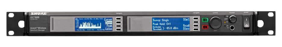 Shure AXT600 Spectrum Manager is available at Hollywood Sound Systems