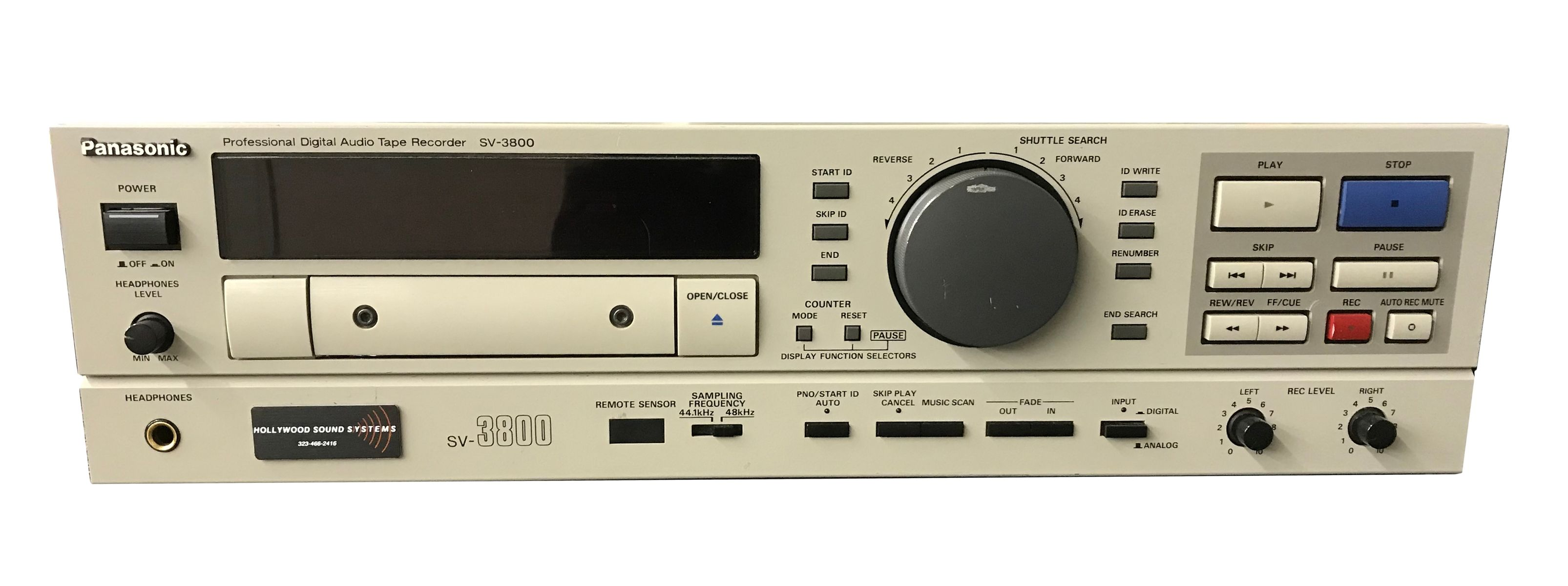 Panasonic SV-3800 DAT Recorder is available at Hollywood Sound Systems