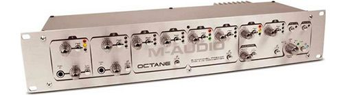The M-Audio OCTANE Mic Preamplifier is available at Hollywood Sound Systems.