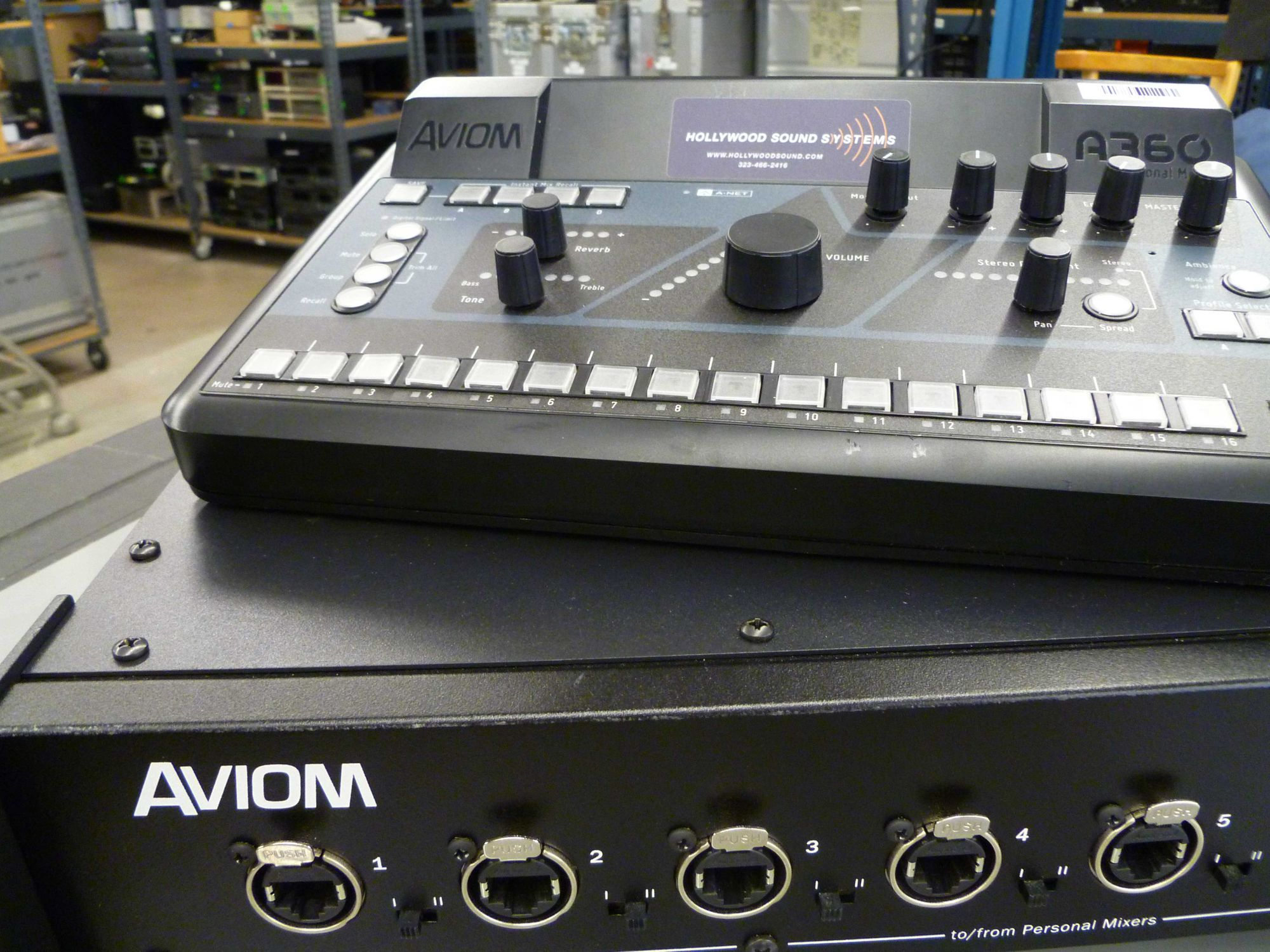 Aviom Monitor Mixing System  is  at Hollywood Sound Systems