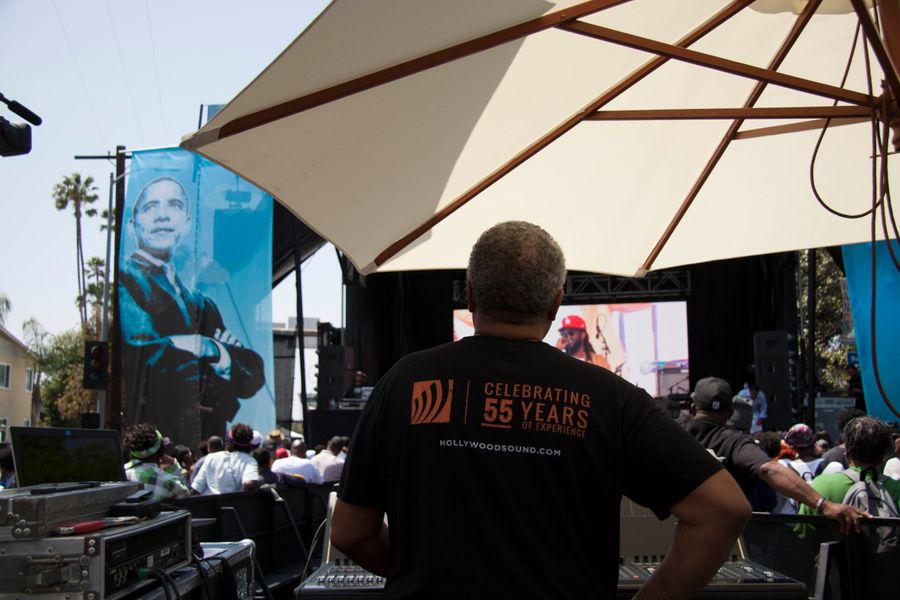 Hollywood Sound Systems at the Obama Blvd renaming ceremony and street festival