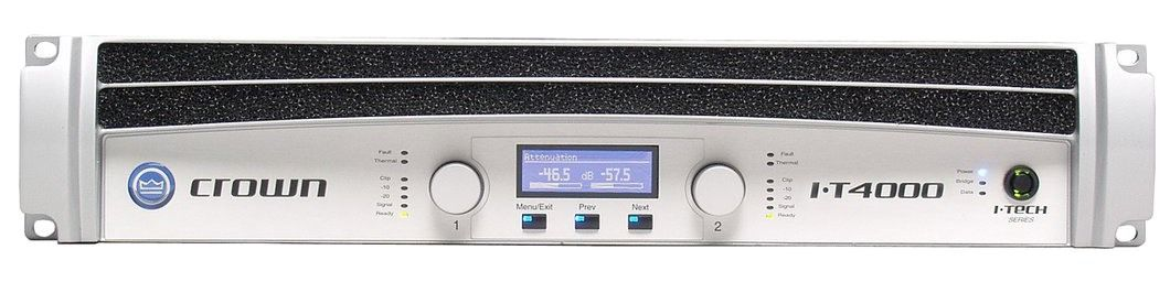 The Crown I-T4000 Power Amplifier is at Hollywood Sound Systems.