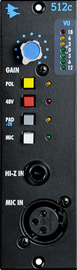 API 512C Mic Preamplifier is available at Hollywood Sound Systems