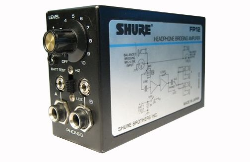 The Shure F12 Headphone Bridging Amplifier is at Hollywood Sound Systems.