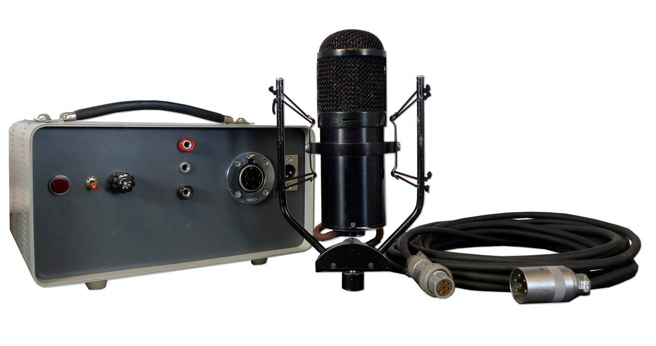 """The Church U47 """"CineMic"""" Tube Condenser Microphone is available at Hollywood Sound Systems."""