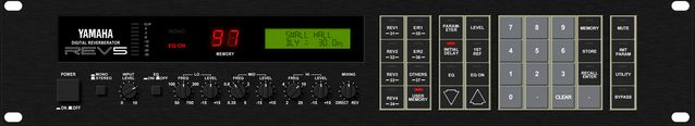 The Yamaha Rev5 Digital Reverb is at Hollywood Sound Systems.