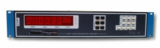 The Evertz Microsystems TCG-10 Time Code Generator and Reader is available at Hollywood Sound Systems.