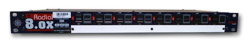 The RADIAL 8.0X 8-Channel Splitter is at Hollywood Sound Systems.