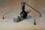 SHURE SM53 cardioid dynamic microphone with Shure floor mount.JPG