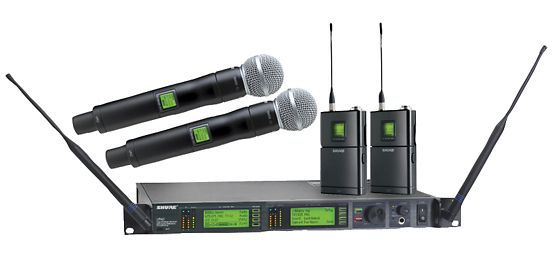 The Shure UR124D Dual Wireless Microphone Combo is at Hollywood Sound Systems.