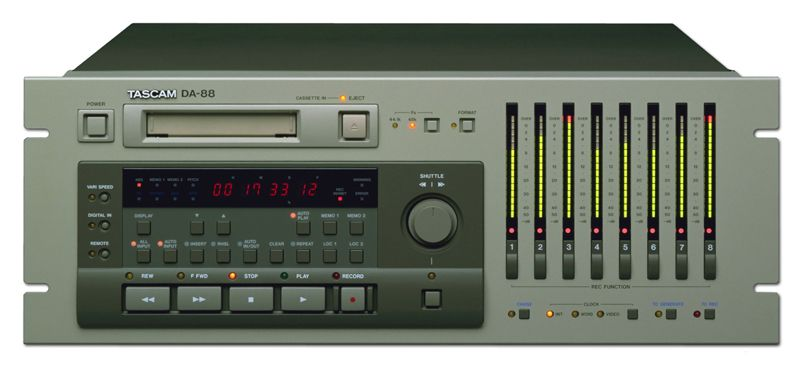 TASCAM DA-88 8-TRACK DIGITAL RECORDER is at Hollywood Sound Systems