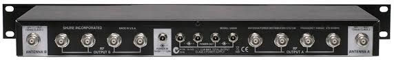 The Shure UA844 UHF Active Antenna Splitter and Power Distribution System is at Hollywood Sound Systems.