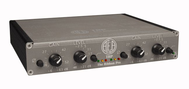 "AEA's TRP ""The Ribbon Pre"" mic preamp is available at Hollywood Sound Systems."