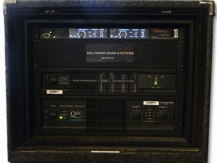 The Hollywood Sound Systems custom-designed Apogee AE5 Amplifier Rack is at Hollywood Sound Systems.